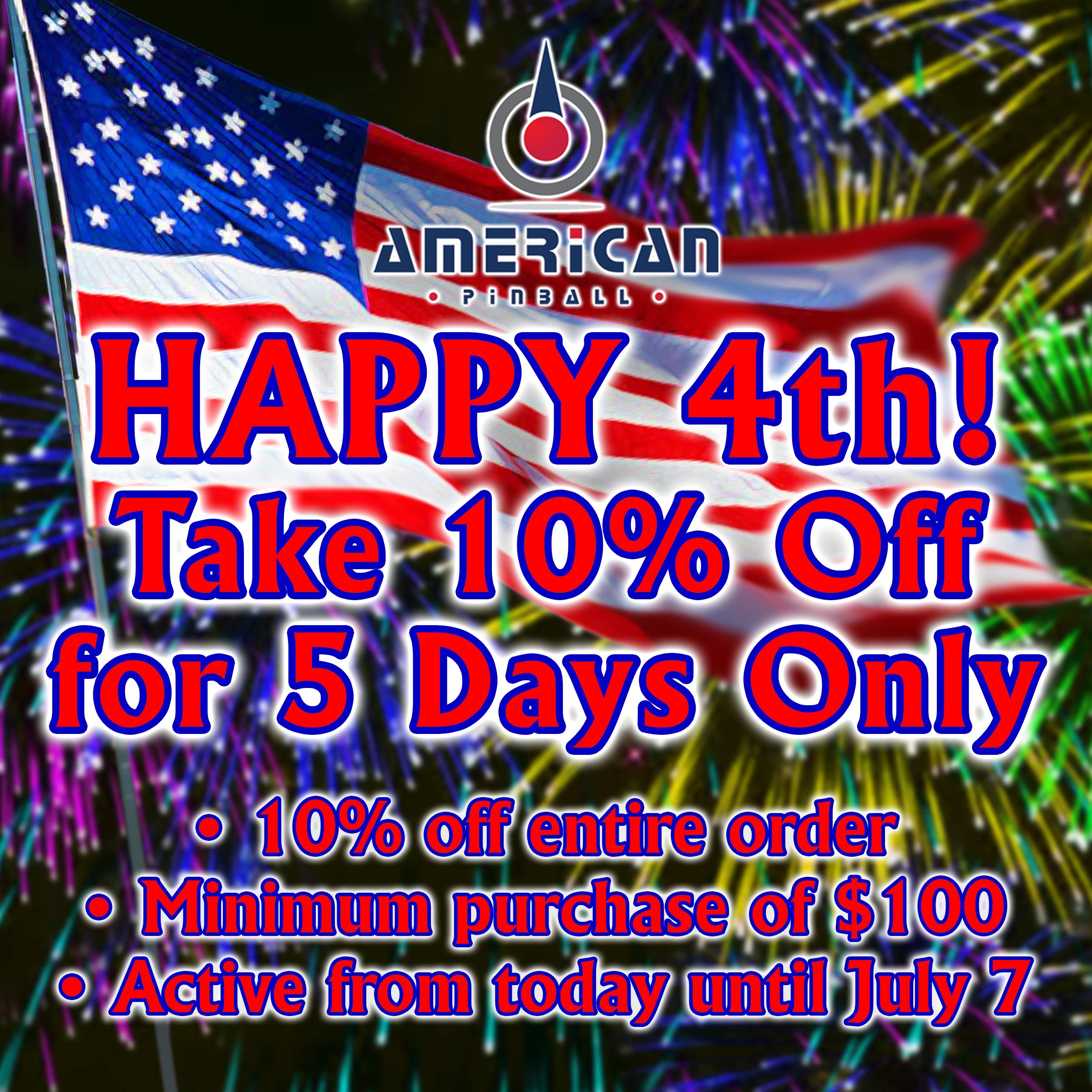 4th of July week end sale!!!