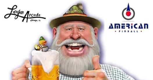 Logan Arcade Oktoberfest Beer & Pinball Party with American Pinball!