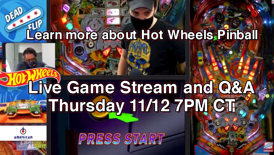 Hot Wheels Pinball Livestream with Q&A -- Replay